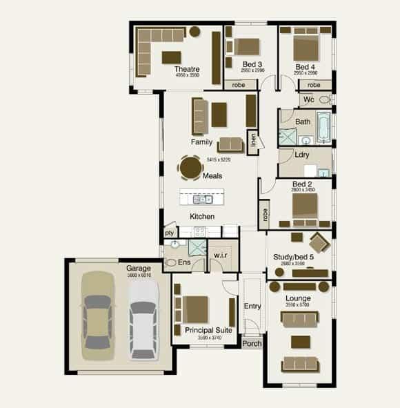Lot 8 floorplan1 Sekisui federation style house designs house design,Federation Style Home Plans