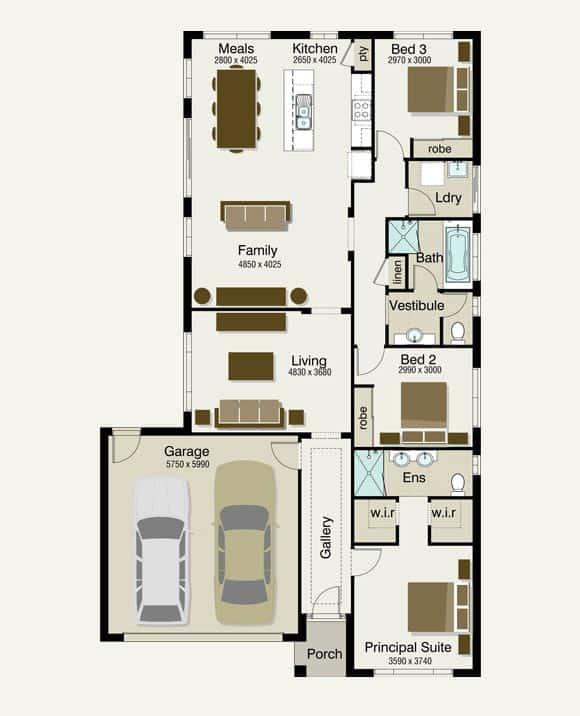 Av jennings home designs packages castle home for Av jennings home designs